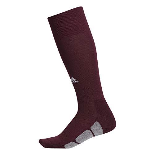 adidas Unisex Utility All Sport Socks (1-Pair), Maroon/White/Light Onix, 13C-4Y