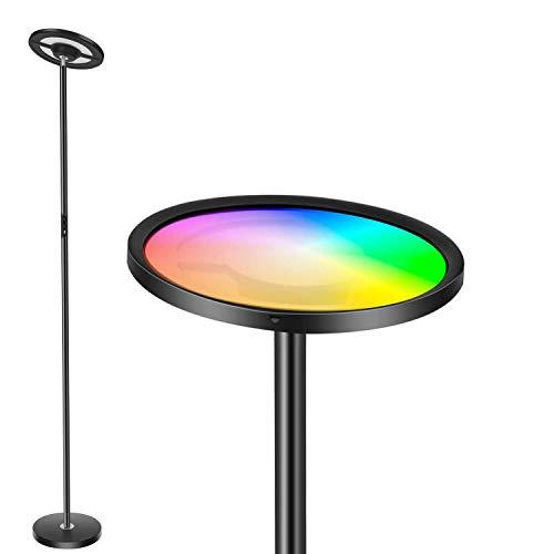 Lampada da soffitto a LED Smart, dimmerabile, 25 W, 2000 lm, RGB, cambia colore, compatibile con Alexa e Google Home, lampada da terra per soggiorno, camera da letto, ufficio [classe energetica A+]