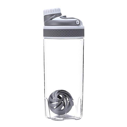 XMYNB Botella De Agua 550 Ml / 700 Ml Protein Shake Circulación Frasco De Polvo De Agua Portable Látigo Esfera Blender Copa Sport Bpa Libre Plástico 20 Oz / 25 Oz,Gris,0.55L