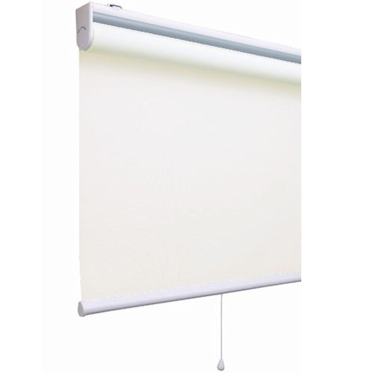 特許平均部分的にプレーン(無地)タイプのロールスクリーン 「アルティス」(幅90cmx丈220cm)アイボリー