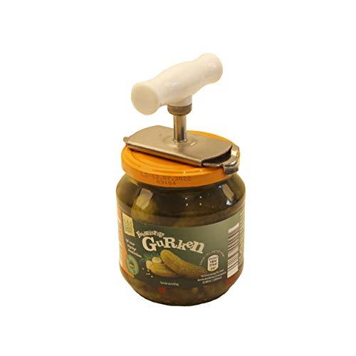 MASCHOTA XXL Deckelöffner groß Öffnet Deckel bis 9,5 cm Durchmesser für riesige Gurkengläser etc. Flaschenöffner Multiöffner