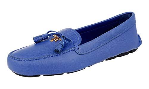 Prada Damen Blau Saffiano Leder Schuhe 1DD036 053 F0V41 39.5 EU