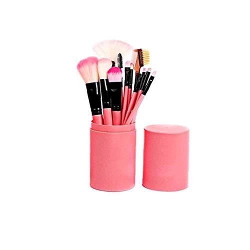 12pcs / set pinceau de maquillage Set Premium Fashion Style de cosmétiques Brosses pour les femmes Blending outil Pinceau rose
