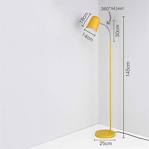 BINGFANG-W Moderno Nordic Minimalismo llevó la lámpara de piso de la sala dormitorio Estudio de la luz del piso Hierro Contempary la luz del piso de madera Lámpara de pie Luminaria LED