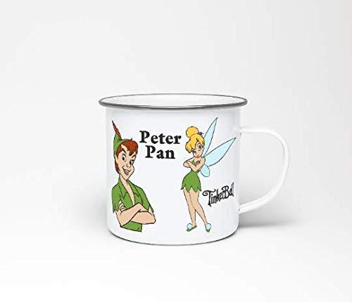 jbosstudio Peter Pan Emaille Becher, Tinkerbell Emaille Becher, Weihnachts-GIF, Disney Emaille Becher, Peter Pan, Tinkerbell, Reisebecher, Wandern Becher, Camping Becher