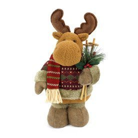 Holiday Decorative Free Standing Christmas Raindeer – 10 inch high