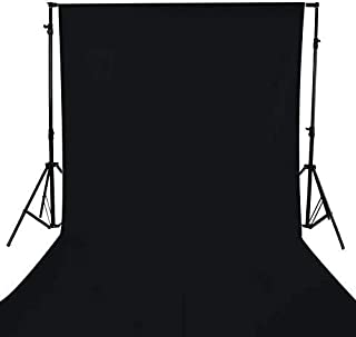 Best GFCC 8FTX10FT Black Backdrop Background for Photography Photo Booth Backdrop for Photoshoot Background Screen Video Recording Parties Curtain Review