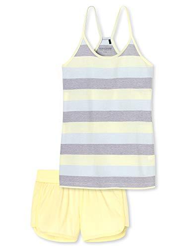 Schiesser Mädchen Anzug kurz Zweiteiliger Schlafanzug, Gelb (Gelb 600), 176