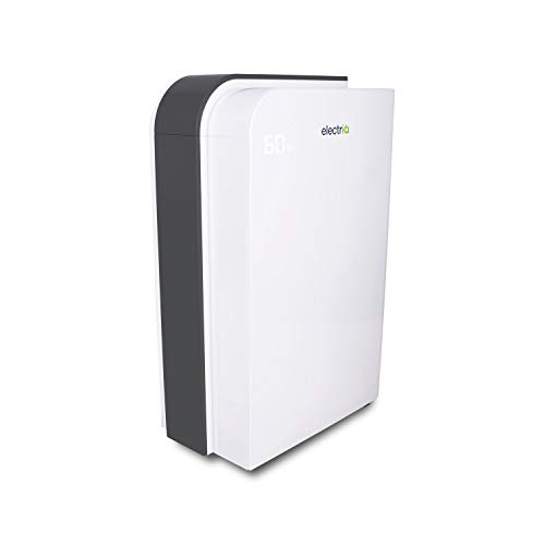 electriQ 25L Low Energy Laundry Dehumidifier and True HEPA UV Air Purifier for 2-6 Bed House with Smart App