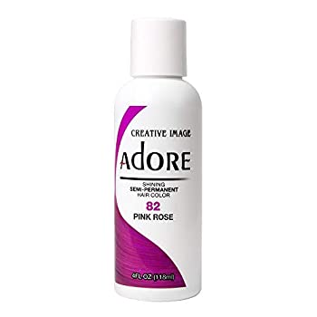 RINSE OUT SEMI-PERMANENT HAIR COLOUR RAGING PINK ROSE  82  118ML by Adore