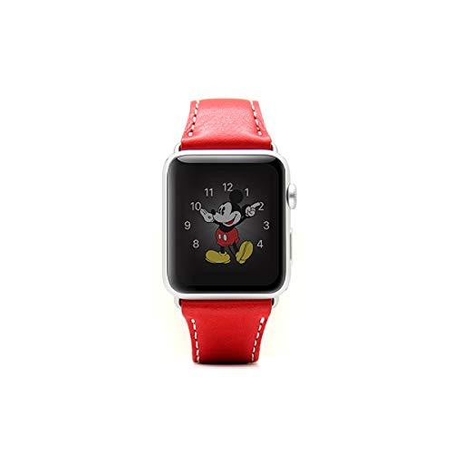 SLG Design Apple Watch 42mm 44mm用 バンド 本革 ミネルバボックスレザー レッド アップルウォッチ ベルト series1 series2 series3 series4対応【日本正規代理店品】
