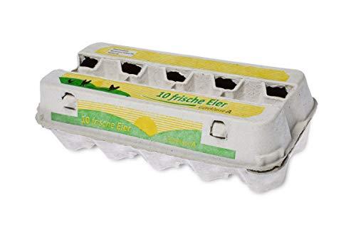 Funny Eierverpackung, 10 Frische Eier, weiß,mit Sichtfenster,AG-427
