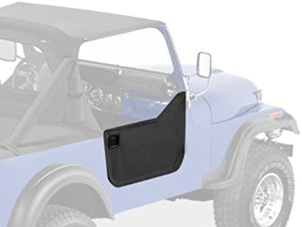 Bestop 53038-15 Black Denim Fabric Lower Half Door Set for 1980-1995 CJ7