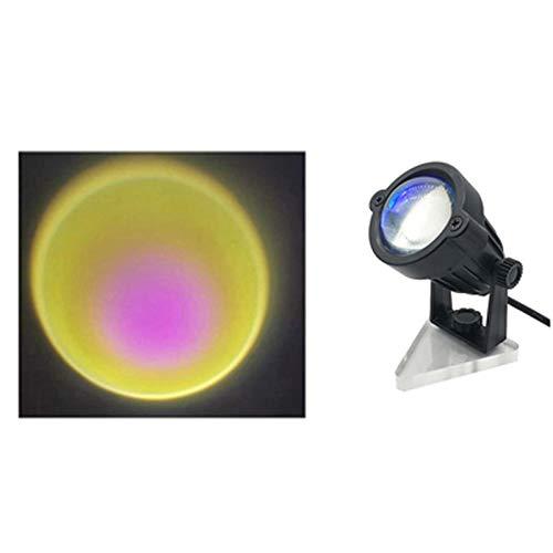 Zhantie Proyector de arco iris/sol/puesta del sol para fondo 5 W LED luz de soporte USB lámpara de proyección para el hogar ángulo ajustable 7,5 * 10 cm