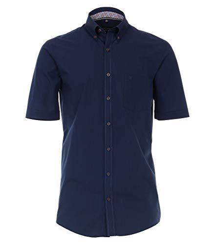 Casa Moda - Comfort Fit - Herren kurzrarm Freizeit Hemd mit Button Down Kragen (903444500), Farbe:Blau (100), Größe:M