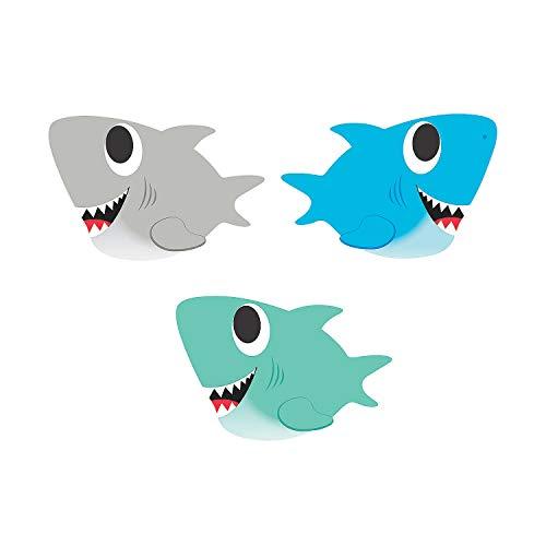 Fun Express Shark Bulletin Board Cutouts - 48 Pieces - Classroom, Home Education and Party Decor