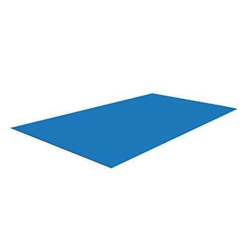 Tapis de sol Pour piscine Rectangulaire Bleu Pliable Imperméable, Bâche de protection pour piscine rectangulaire, Tapis De Sol Parfait pour Les Randonneurs De Camping, 500×300CM
