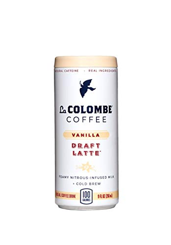 La Colombe Vanilla Draft Latte - 9 Fluid Ounce, 16 Count - Cold-Pressed Espresso and Frothed Milk With True Vanilla - Made With Real Ingredients - Grab And Go Coffee