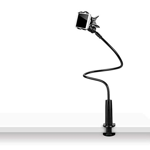 Soporte Ajustable para teléfono móvil Mesita de Noche Snap-On Soporte para teléfono Inteligente de Escritorio Negro