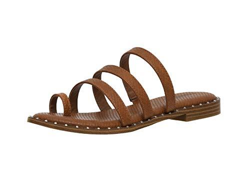 Women's Cushionaire Tess toe loop thong sandal +Memory Foam, TAN 8.5