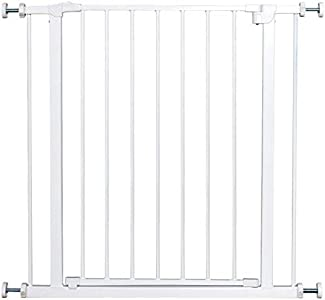 COSTWAY Barrera de Seguridad de Metal para Puerta Escalera sin Perforación Valla Protección para Perros