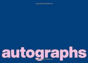 Autographs: Blank Unlined Book for Collecting Signatures and Messages with Simple and Colorful Cover Design in Blue and Pink