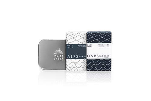 Oars + Alps Bar Soap Gift Set, Natural Skin Care, With Hydrating Shea Butter and Exfoliating Activated Charcoal, Vegan and Gluten Free