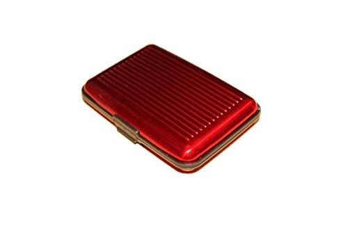 [クープ・ド・クール] カードケース クレジットカードケース 磁気防止 スキミング防止 アタッシュケース スタイリッシュ カードホルダー マネークリップ 個性的 プレゼント 彼氏 アルミケース (レッド)