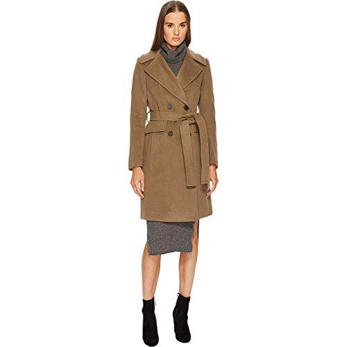 Diane von Furstenberg Double Breasted Tie Waist Wool Coat British Khaki 10