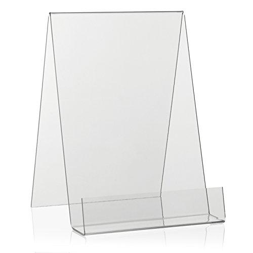 VITAdisplays® DIN A5 Buchständer/Buchstütze/Buchhalter als Warenträger aus original PLEXIGLAS® (Acrylglas, Transparent)