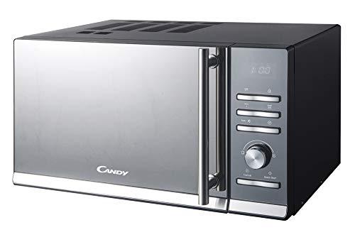 Candy CMGE20BS Forno a Microonde con Funzione Grill, 900 W, 20 Litri, 48,3 x 28,1 x 39 cm, Alluminio, Nero