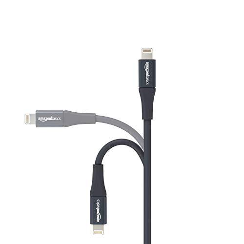 Amazon Basics - Lightning-auf-USB-A-Kabel, Premium-Kollektion, 3 m, 1er-Pack - Grau