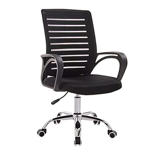 Silla ajustable de levantamiento suave del juego del estudiante, silla de rodadura de la oficina de la oficina de la oficina de la oficina de la computadora de la computadora de malla ajustable (negro
