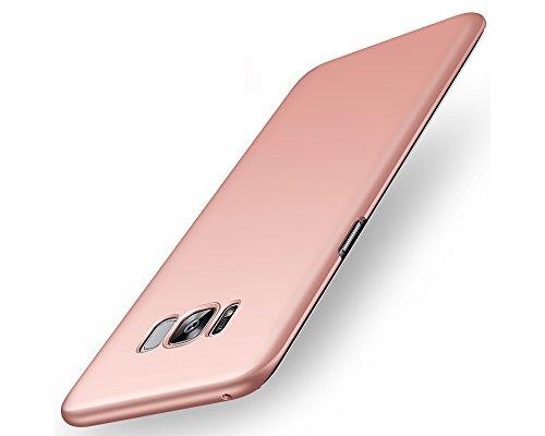 EIISSION Samsung Galaxy S8 Hülle,EMIRROW schlicht dünn Leichte Cover SlimShell Hülle PC Schutzhülle für Samsung Galaxy S8 Handyhülle,Rose Gold