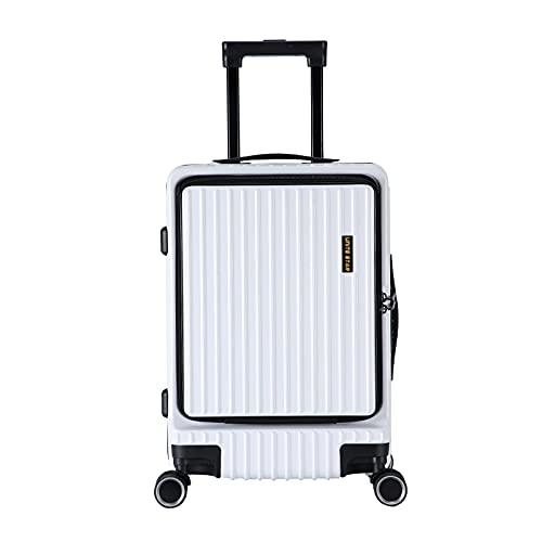 【UNITE STAR】超軽量 大容量 キャリーバッグ TSAロック搭載 前開き キャリーケース フロントオープン PC/ABS材質 スーツケース 14インチPC収納可能 8輪静音キャスター 持ちやすいキャリーバー アルミハンドル 多段階調節可能 ファスナ