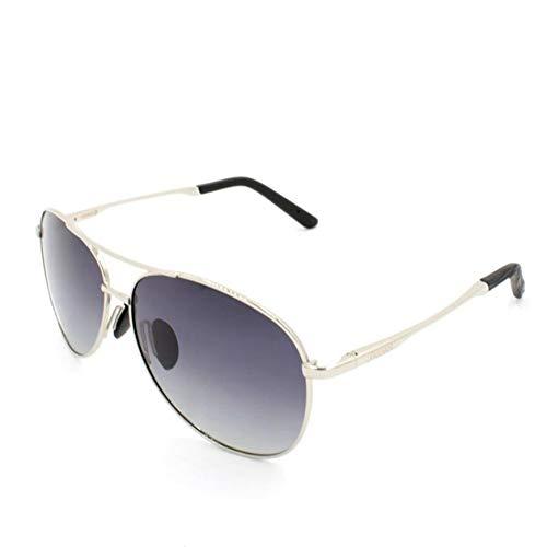 Saidan SD Gafas de Sol Unisex Polarizadas Para Hombre y Mujer Estilo Aviador Sport Unisex (Plata / Deg. Negro)