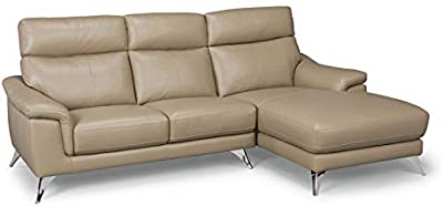 07a48e10 Home Styles 5230-61 homestyles by Flexsteel Moderno Leather Upholstered  Chaise Sofa W-90