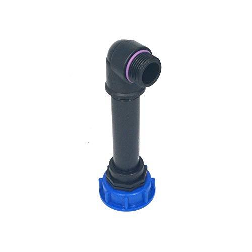 CMS60290R13_81 Tube d'écoulement avec tube plastique et angle de 90 ° avec AG 1, IBC Adaptateur de réservoir d'eau de pluie de Accessoires de conteneurs Mamelon de Bidon