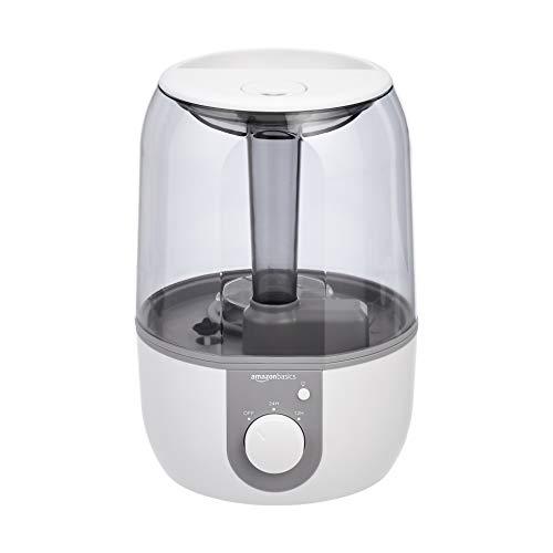 Amazon Basics - Humidificador con luz nocturna y difusor de aroma, de 4 l, blanco