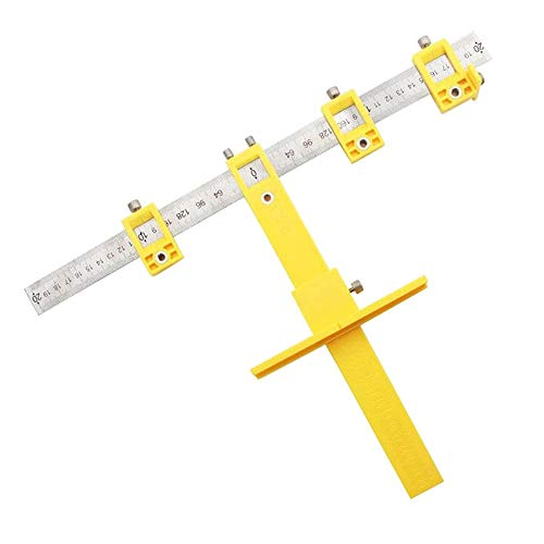 WY-YAN Detachable Hole Punch Jig Tool Center Drill Bit Guide Set Sleeve Cabinet Hardware Locator Wood Drilling Woodworking Tool (Color : Yellow)