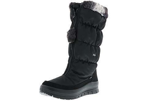 Vista Damen Winterstiefel Snowboots schwarz, Größe:36, Farbe:Schwarz