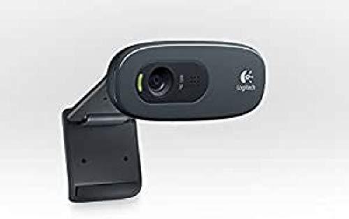 Logitech C270 cámara Web 3 MP 1280 x 720 Pixeles USB 2.0 Negro - Webcam (3 MP, 1280 x 720 Pixeles, 30 pps, 2048 x 1536 Pixeles, Auto, USB 2.0)