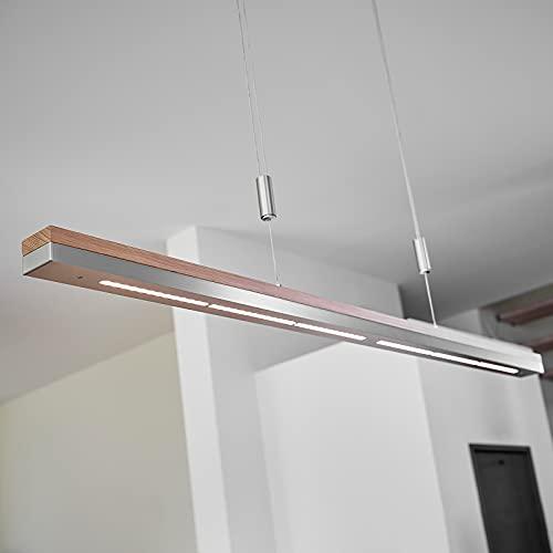 LED Lámpara colgante 'Elna' (Moderno) en Marrón hecho de Madera e.o. para Salón & Comedor (1 llama, A+) de Lucande | lámpara colgante de madera, lámpara colgante, lámpara, lámpara de techo, lámpara de