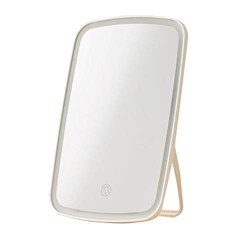 XYZMDJ Miroir de maquillage portable intelligent avec lampe à éclairage LED pour femme et homme