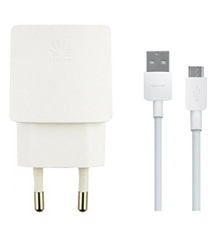 Adaptador USB HW-050100E01+ Cable USB de 1 m de longitud original para Huawei Y560 P8Lite, 1000mAh, color blanco, a granel