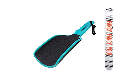 Onyx Professional Extra Large Curved Foot File with Handled Grip - Extra Grit Exfoliates & Removes Dead Skin Includes Nail File