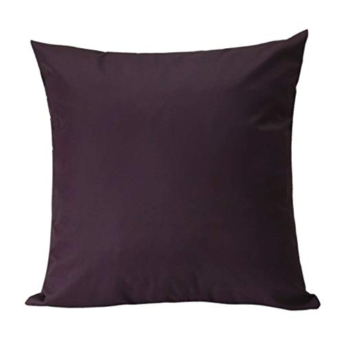 Wisforbest Cushion Covers 18 x 18 inch Waterproof Pillow Covers with Soft Polyester Decorative Square Covers for Garden, Sofa, Couch, Bedroom, Office, Car