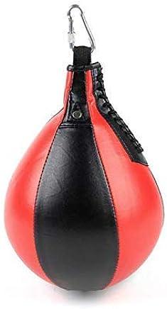 Apolyne Punching Tour Sac de Frappe de Pied avec gonfleur Rouge//Noir Taille Unique