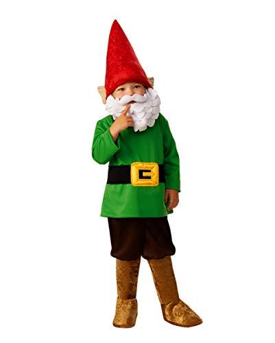 Horror-Shop Kleiner Gartenzwerg Kinder Kostüm für Halloween und Karneval M