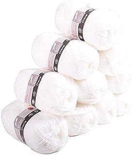 Laines Cheval Blanc, DIANE - Lot 10 pelotes de laine 50g - Fil à tricoter 100% acrylique fin et doux
